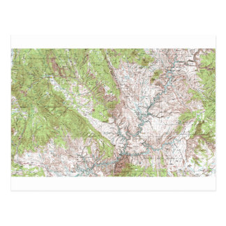 1 x 2 Degree Topographic Map Postcard