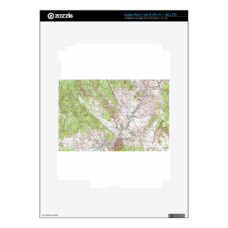 1 x 2 Degree Topographic Map Skin For iPad 3