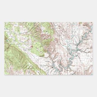 1 x 2 Degree Topographic Map Rectangular Sticker
