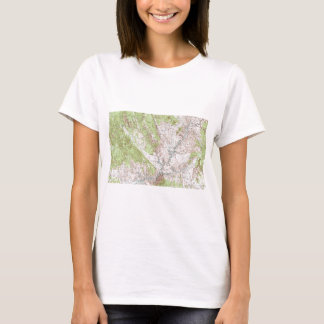 1 x 2 Degree Topographic Map T-Shirt
