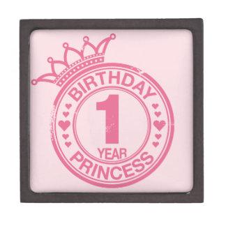1 year - Birthday Princess - pink Gift Box