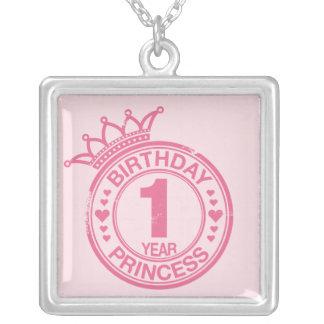 1 year - Birthday Princess - pink Pendants