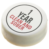 1 Year Clean and Sober Chocolate Covered Oreo