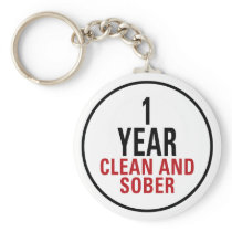 1 Year Clean and Sober Keychain