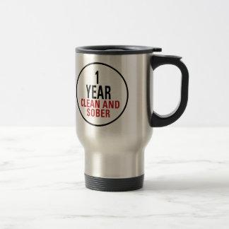 1 Year Clean and Sober Travel Mug