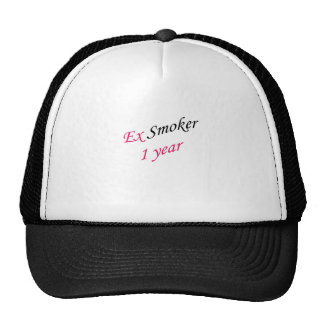 1 year ex-smoker trucker hat