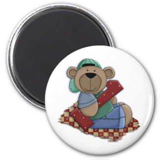 1 Year Old Bear in Ball Cap Magnet