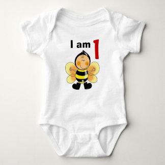 1 year old birthday boy/girl gift (bumble bee) baby bodysuit