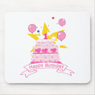 1 Year Old Birthday Cake Mouse Pad