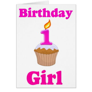 1 year Old Birthday Girl Card
