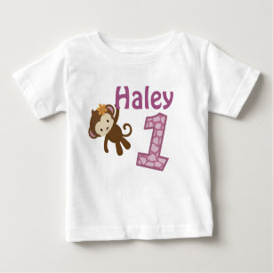 1 Year Old Birthday T Shirt CJ Orchid Style3