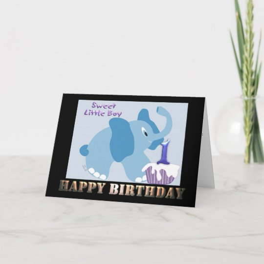 1 Year Old Boy Birthday One B Day Card