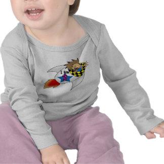 1 year old boy in a rocket tshirts