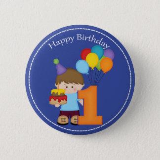 1 year old boys Happy Birthday Button