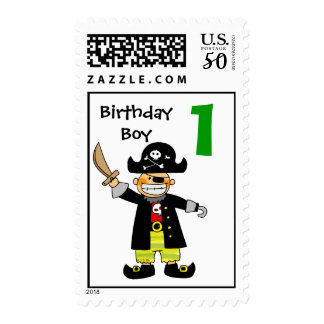 1 year old pirate boy postage