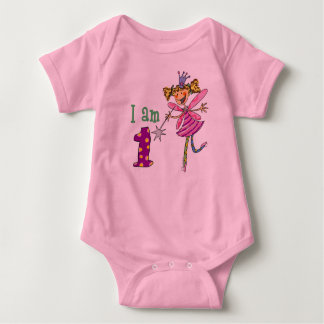 1 year old princess fairy baby bodysuit