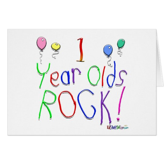 1 Year Olds Rock ! Card