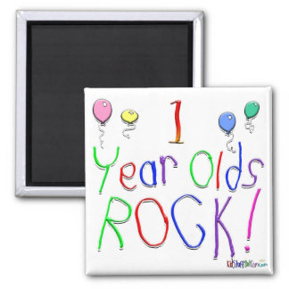 1 Year Olds Rock ! Magnet