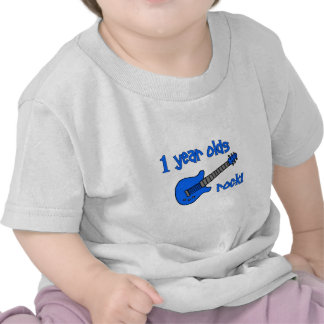 1 year olds rock Personalized Baby s 1st Birthday Tee Shirt