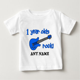 1 year olds rock! Personalized Baby's 1st Birthday Baby T-Shirt