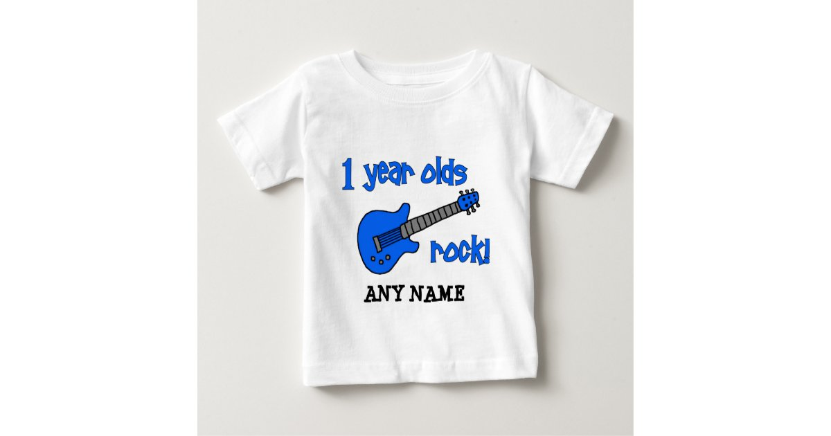 1 Year Olds Rock Personalized Babys 1st Birthday Baby T Shirt