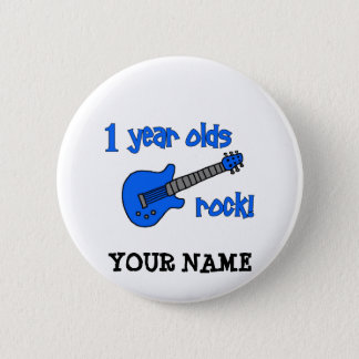 1 year olds rock! Personalized Baby's 1st Birthday Button