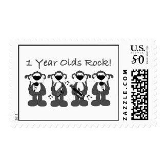 1 Year Olds Rock Postage