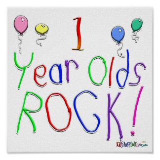 1 Year Olds Rock ! Poster