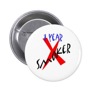 1 Year Red Ex-smoker 2 Inch Round Button