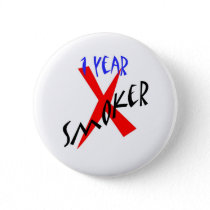 1 Year Red Ex-smoker Button