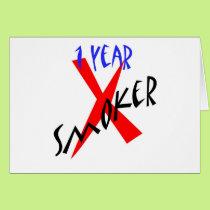 1 Year Red Ex-smoker Card