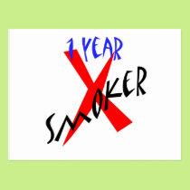 1 Year Red Ex-smoker Postcard