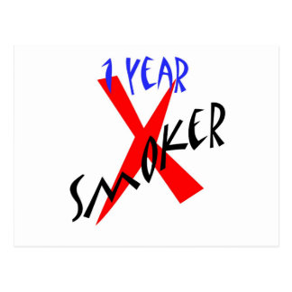1 Year Red Ex-smoker Postcard