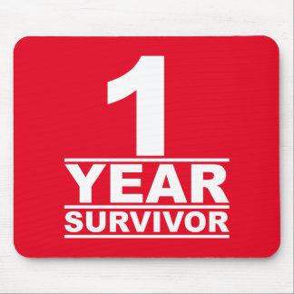 1 year survivor mouse pad