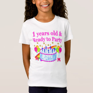 1 YEARS OLD AND READY TO PARTY BIRTHDAY GIRL T-Shirt