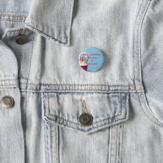 1 years old birthday badge button