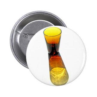1 Yellow Gold Cocktail Shot Glass Pinback Button
