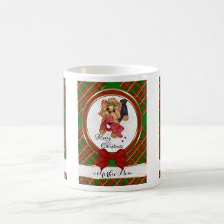 #1 Yorkie Mom Merry Christmas Mug