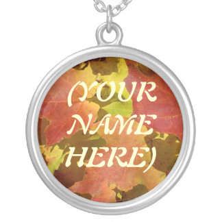 #1 YOUR NAME - FALL NECKLACE