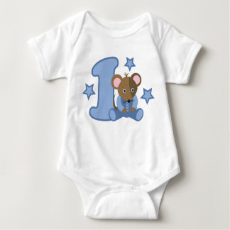 1 Yr Old Baby Mouse Birthday Gift T Shirt