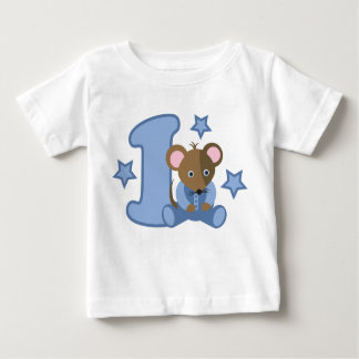 1 Yr Old Baby Mouse Birthday Gift Tee Shirt