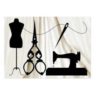 1A de costura revisado/moda/costurera Tarjetas De Visita Grandes