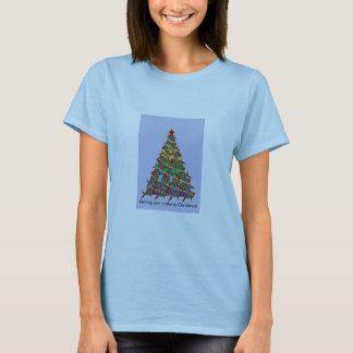 1aFishTree, Fishing you a Merry Christmas! T-Shirt