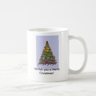 1aFishTree, We fish you a Merry Christmas! Coffee Mug