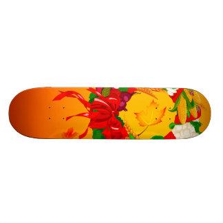 1ai fall harvest wreath skateboard