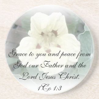 1Co 1:3  Grace to you and peace from God our Fathe Drink Coaster
