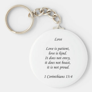 1corinthians13-4 ~ Love Keychain