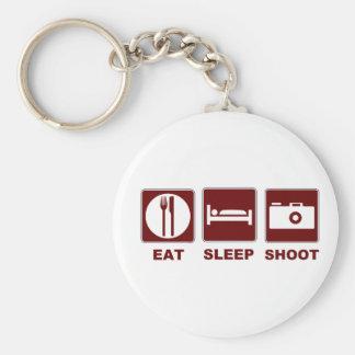 1eat sleepBlankSHOOT Basic Round Button Keychain