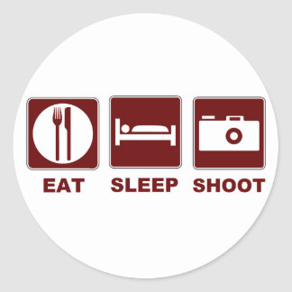1eat sleepBlankSHOOT Classic Round Sticker