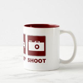 1eat sleepBlankSHOOT Two-Tone Coffee Mug